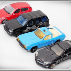 LOT 4 MAȘINUȚE - TABLĂ: BMW WELLY, MCLAREN, FORD EXPLORER, MAJORETTE FORD CAPRI! - Macheta auto