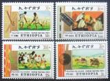 ETIOPIA - SPORTURI TRADITIONALE  4 VALORI, NEOBLITERATE - E0645