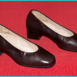 NOI, DE CALITATE _ Pantofi din piele moale, frumosi, comozi, HASSIA _ nr. 37 - Pantof dama, Culoare: Maro, Piele naturala