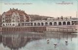 Ok-1414- Romania, Vizakna, Ocna Sibiu c.p. circulata 1910: Lacul Mikes animat