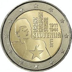 SLOVENIA 2 euro comemorativa 2011 - UNC, Europa, Cupru-Nichel