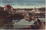 Ok-1452- Romania, Vizakna, Ocna Sibiu c.p. scrisa necirculata 1914: Leporello 10