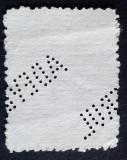 1893-1898 CAROL I SPIC DE GRAU 1 BANI hartie costata hartie cu nervuri LP 51a, Regi, Stampilat