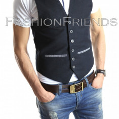 Vesta eleganta casual - vesta barbati - vesta slim fit - cod 4109, Marime: S, M, XL, Culoare: Din imagine