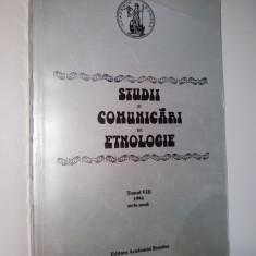 Studii si comunicari de etnologie Ed. Academiei Romane 1994 - Carte traditii populare