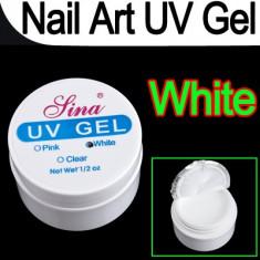 Gel UV Sina pentru constructie unghii false 15 g Alb French - Gel unghii