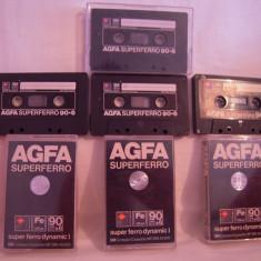 Vand 4 casete audio AGFA Superferro 90+6, originale, raritate!
