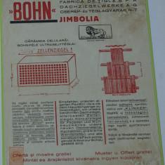Reclama - afis interbelic tiparit Bohn Jimbolia - in Romana Germana si Maghiara - Reclama Tiparita