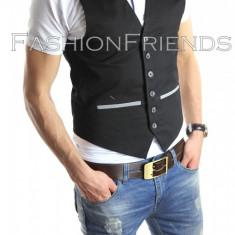 Vesta eleganta casual - vesta barbati - vesta slim fit - cod 4108, Marime: S, L, XL, Culoare: Din imagine, Sport