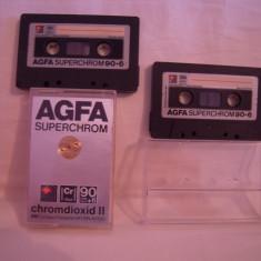 Vand  caseta audio AGFA Superchrom 90+6,originale,raritate!