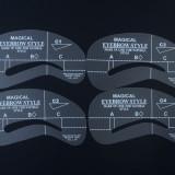 Sabloane pentru tatuare sprancene, Set de 4 bucati diferite, model C1-4