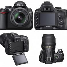 Nikon D5000 kit 18-55mm f/3.5-5.6 AF-S VR (cu stabilizare) - DSLR Nikon, Kit (cu obiectiv), 12 Mpx, HD