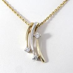 Lantisor superb aur 8crt cu pietre zirkonia