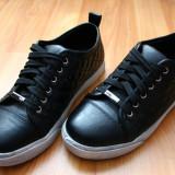 Pantofi Casual Sport - Adidasi dama, Culoare: Negru, Marime: 36, Piele sintetica