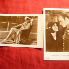 2 Ilustrate Greta Garbo in fotoliu si Greta Garbo in fotoliu -foto 1928, Necirculata