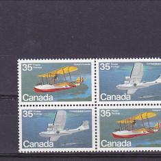 Aviatie, hidroavioane, Canada. - Timbre straine, Nestampilat