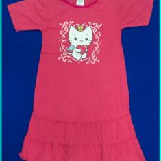 PRACTICA _ Rochie bumbac, ANGEL CAT SUGAR _ fetite | 5 - 6 ani 116 cm, Marime: Alta, Culoare: Roz