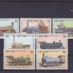 Transporturi locomotive, Vietnam. - Timbre straine, Nestampilat