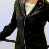 Geaca/Sacou piele model special - Geaca dama, Marime: 40, Culoare: Negru
