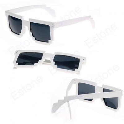 Ochelari soare model retro albi foto