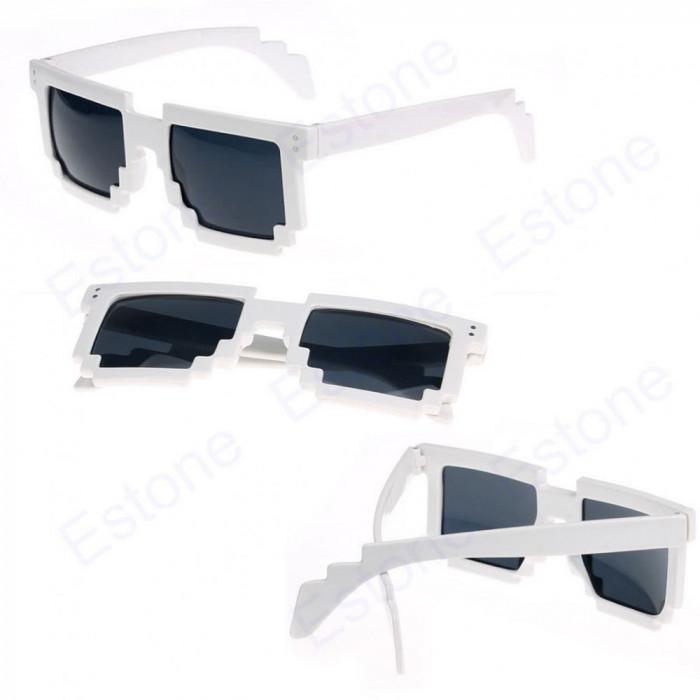 Ochelari soare model retro albi