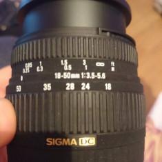 Obiectiv pentru Canon Sigma Zoom 18-50mm 1:3.5-5.6 DC - Obiectiv DSLR Sigma, Sigma - DC