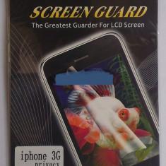 Folie privacy display iPhone 3G - Folie de protectie Apple, Anti zgariere