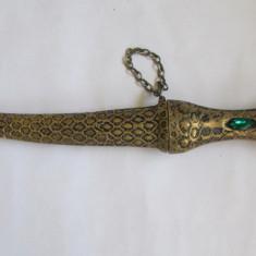 IATAGAN-ARMA DE PANOPLIE-bronz, vintage