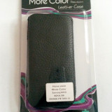 Husa Toc tip Pouch More Color Neagra Black Premium din Piele naturala ! Nou !