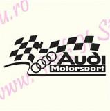 Audi Motorsport_Sticker Auto_TuningCod: CSTA-826 Dim.: 20 cm. x 7.8 cm.