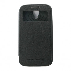 Toc My-Wow Samsung Galaxy S4 I9500 Negru - Husa Telefon Atlas, Piele Ecologica