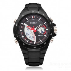 Ceas Ohsen AD2802 - Quartz , Sport , Barbatesc , LED + Analog , Dual Time
