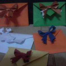 Vand plicuri confectionate de mine cu model origami - Plic Papetarie