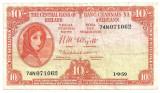 Irlanda 10 Shillings 1959 F