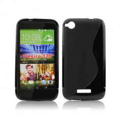 Husa HTC Desire 320 TPU S-LINE Black - Husa Telefon HTC, Negru, Gel TPU, Fara snur, Carcasa