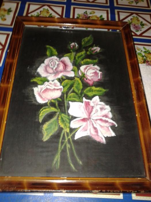 pictura in ulei pe pinza . foto mare