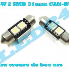 LED c5w Festoon (Sofit) 2 SMD 31mm 5050 CANBUS cu radiator - Led auto, Universal
