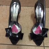 Sandale BALITZA, negre din lac, super elegante, mar.39!! - Sandale dama, Culoare: Negru