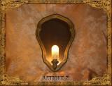 Oglinda cu lampa electrica stil Baroc, vintage antique