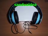 CASTI PLIABILE tip BEATS M3/MP4/tableta/Iphone-culoare BLEU- super pret49,90 lei, Casti On Ear, Cu fir, Mufa 3,5mm, Monster Beats by Dr. Dre