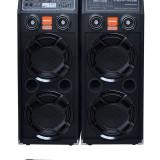 2 BOXE ACTIVE, MIXER, MP3 PLAYER STICK USB/CARD, RADIO+2 MIC.WIRELESS, 500 WATT. - Echipament karaoke