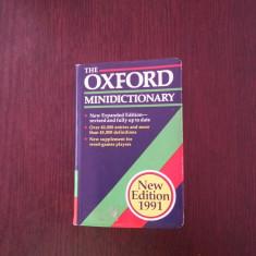 THE OXFORD MINIDICTIONARY [engleza]-- Joyce M. Hawkins -- 1991, 645 p. - DEX
