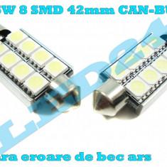 LED C5W Festoon (Sofit) 8 SMD 5050 CANBUS cu radiator - Led auto, Universal