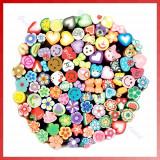 Batoane fimo pt unghii, diverse modele, set de 25 batonase, plus cutter cadou - Model unghii