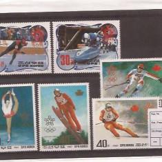 Nord Korea 1988 Calgary Olympiada serie - Timbre straine, An: 1987, Nestampilat