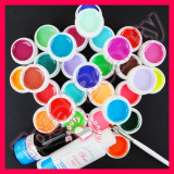 Kit unghii false cu 30 geluri colorate UV ENS PRO Germania accesorii pensula, Sina