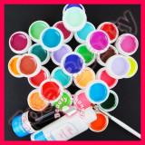 Kit unghii false cu 30 geluri colorate UV ENS PRO Germania accesorii pensula