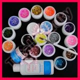 Kit Unghii false Sina cu gel UV 18 geluri colorate consumabile Unghii false Sina cu gel