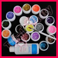 Kit unghii false cu gel UV 18 geluri colorate consumabile unghii false cu gel - Gel unghii Sina