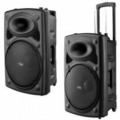 BOXA ACTIVA DTC, MIXER, MP3 USB PLAYER, RADIO FM, KARAOKE +2 MICROFOANE WIRELESS! - Echipament karaoke